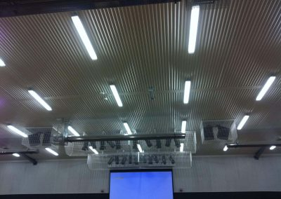 We were contracted by Cowandilla Primary School in South Australia for fabricating and installing security cages for these light fixtures in their auditorium