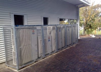 Cage installation at Belair Primary School