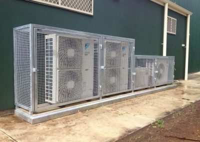 We are cage supplier of choice for a large number of commercial and government clients, like this cage installation we did for CFS, Eden Hills, SA