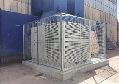 Cage installation at SA Film Studios