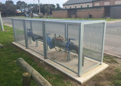 We fabricate and supply cages for all meter installations - Gas, Water, RPZ
