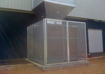 We fabricated this galvanised steel cage for Belair Primary School in South Australia