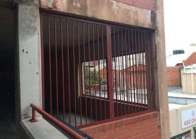 Powder coated security bars installed in Adelaide, South Australia