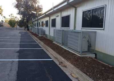 Security cages for air conditioning unit installed in a client's office in Australia