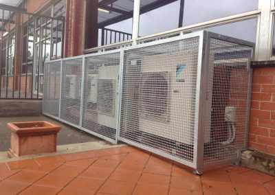 We supplied and installed the cages for protecting aircon units installed at Blackwood Primary & High Schools in SA